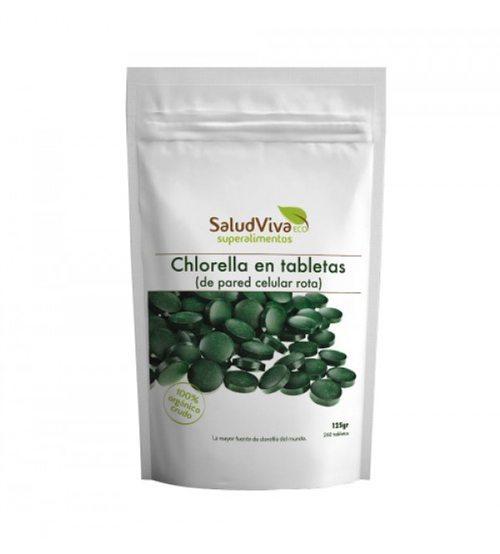 Chlorella en tabletas