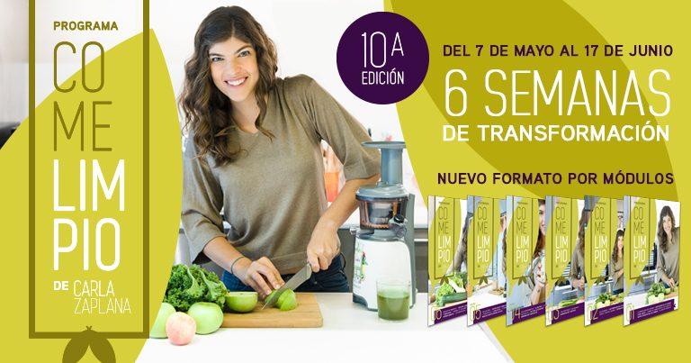 Programa Come Limpio 10ª Edicion alimentacion vegetal