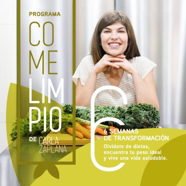 Carla zaplana programa come limpio alimentación vegetal