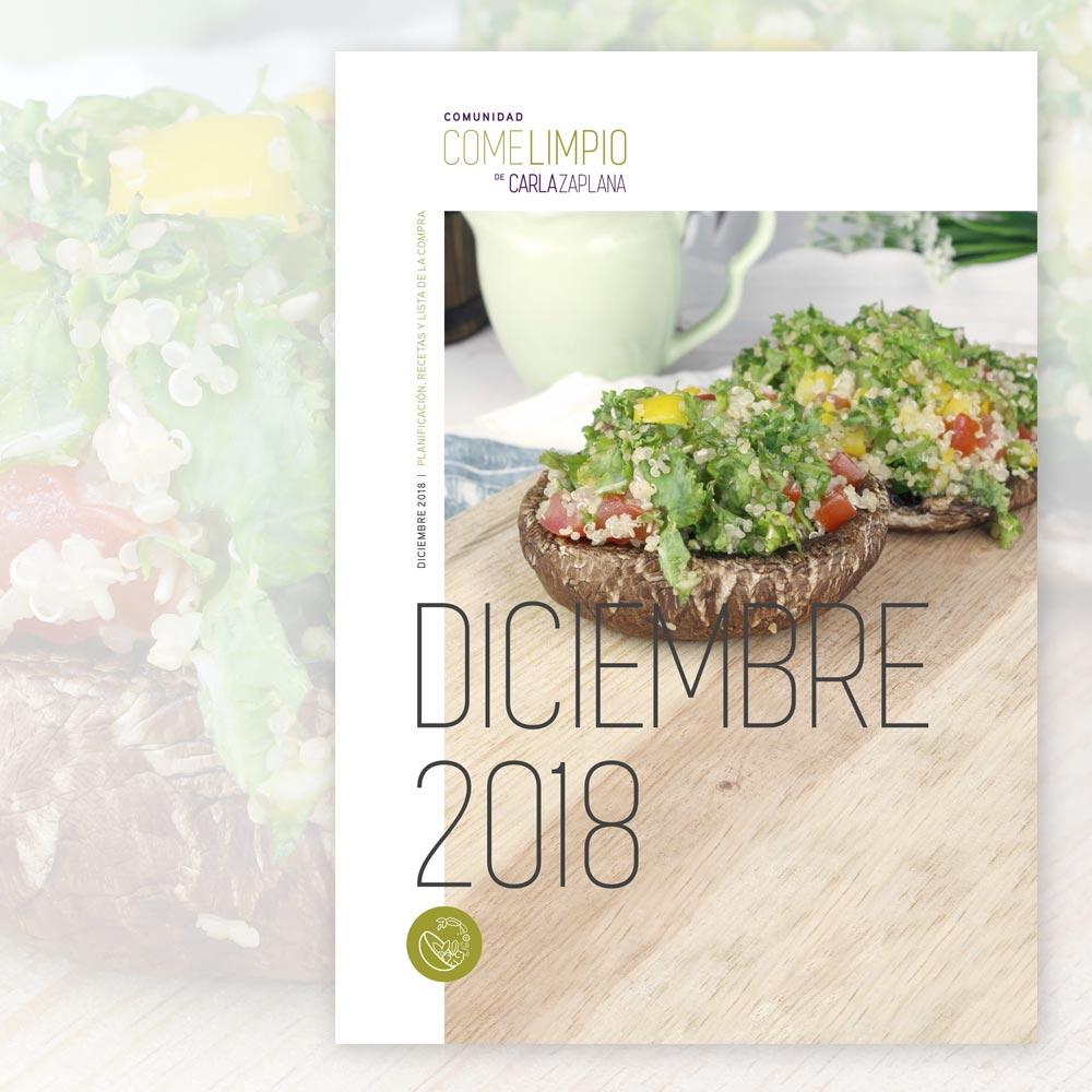 comunidad come limpio recetas diciembre carla zaplana nutricionista