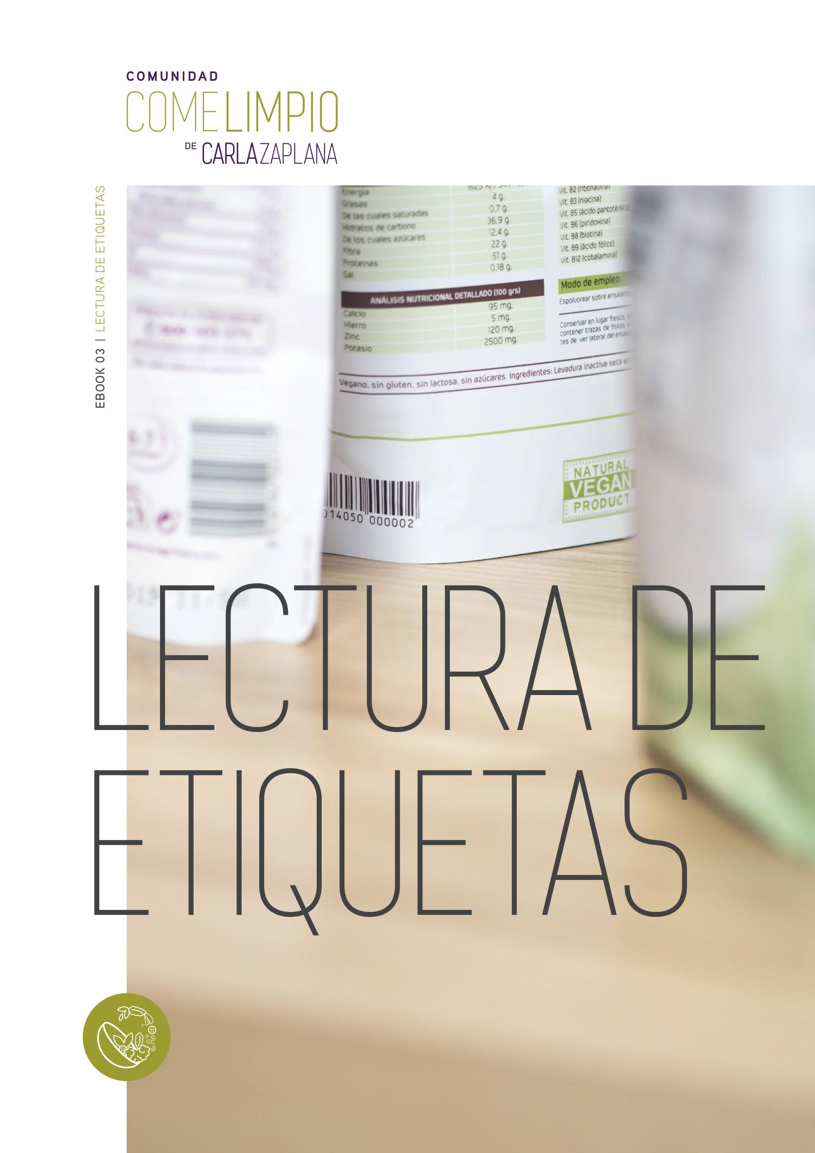Ebook Lectura de Etiquetas
