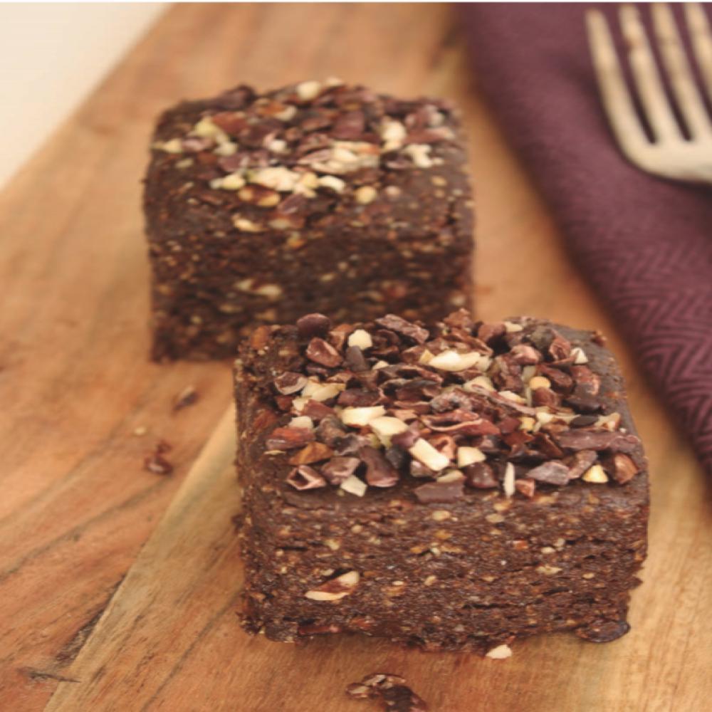 Brownie sin harinas ni azúcares refinados