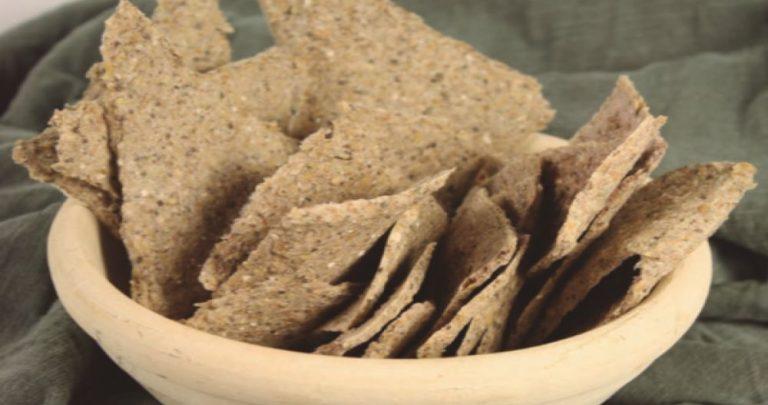 Crackers de chía y lino – Alternativa al pan